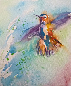 The Hummer is a watercolor by Angela Westengard